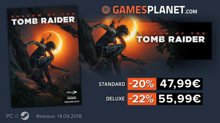 Shadow of the Tomb Raider et The Division 1 à petits prix sur Gamesplanet !