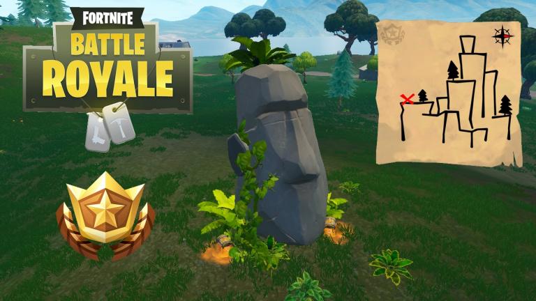 Fortnite saison 5, guide défis semaine 9 : emplacements statues, carte au trésor de Shifty Shaft