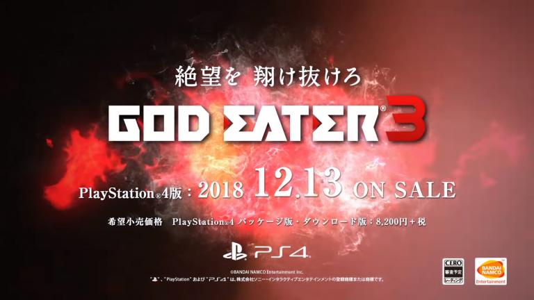 [MàJ] TGS 2018 : God Eater 3 dévoile sa date de sortie nippone