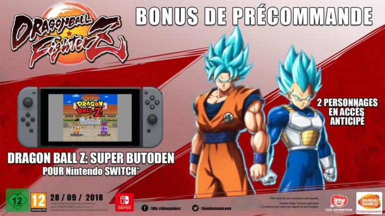 Dragon Ball FighterZ : précommander le jeu sera le seul moyen d'obtenir Super Butoden sur Switch