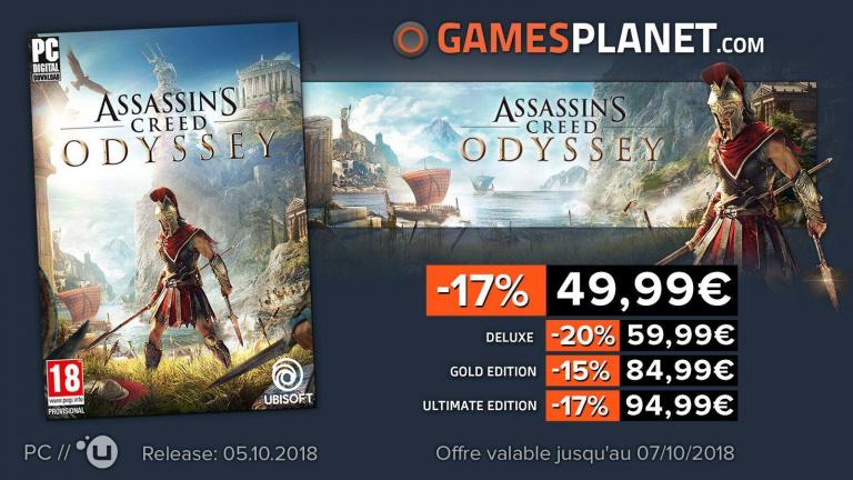 Assassin's Creed Odyssey en promo chez GamesPlanet