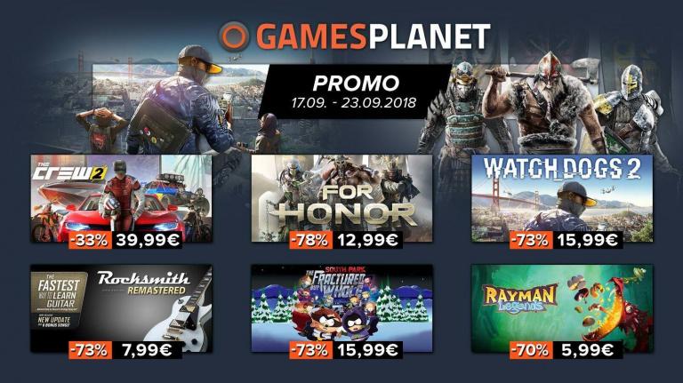 Des promos PC et consoles sur Gamesplanet et la FNAC