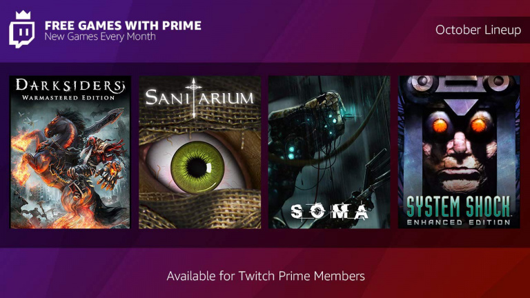 Twitch Prime : Darksiders, Soma et deux autres jeux offerts en octobre