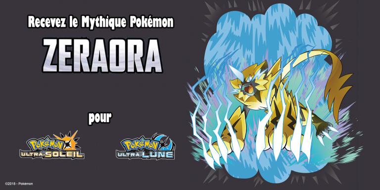 Pokémon Ultra-Soleil / Lune - Zeraora distribué jusqu'au 15 novembre