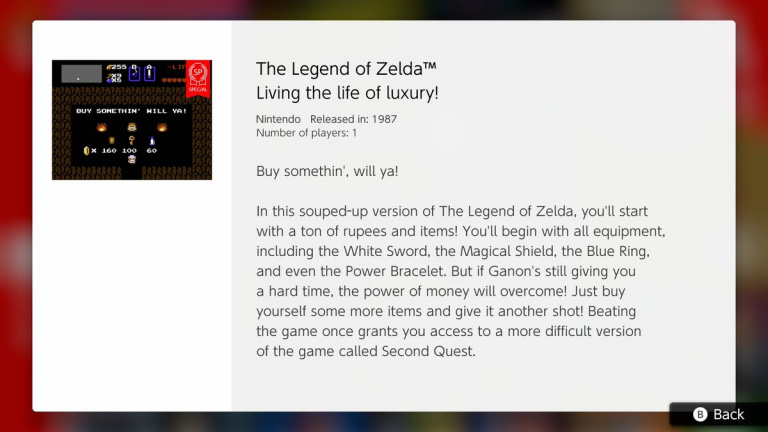 """The Legend of Zelda : une version """"spéciale"""" proposée avec le Nintendo Switch Online"""