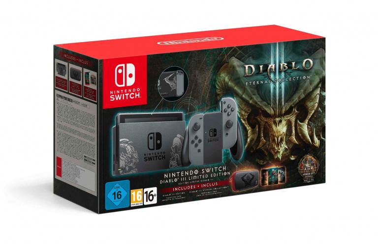 Une Nintendo Switch en édition limitée aux couleurs de Diablo III