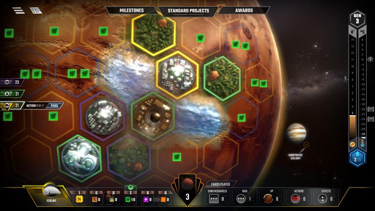 Terraforming Mars : le jeu de plateau débarque sur Steam