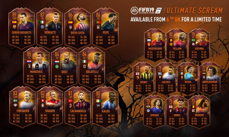 FIFA 19 fête Halloween dans Ultimate Team