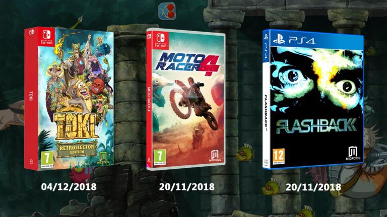 Toki (Switch), Flashback (PS4) et Moto Racer 4 (Switch) repoussés par Microïds