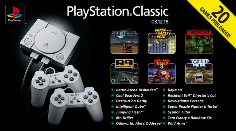 PlayStation Classic : la liste des vingt jeux dévoilée (GTA, Metal Gear Solid, Rayman...)