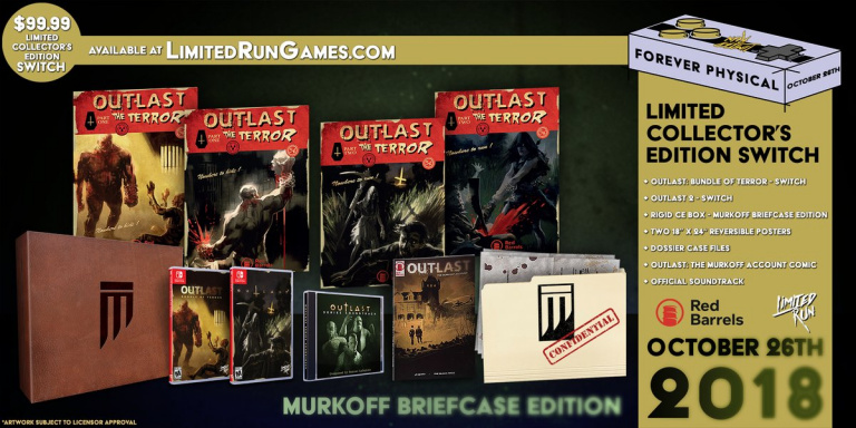 Outlast et Outlast 2 : des versions physiques Nintendo Switch chez Limited Run Games