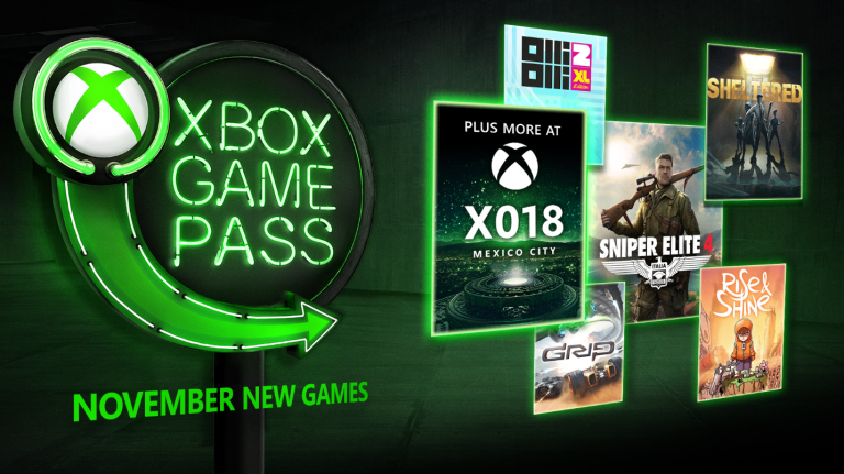 Xbox Game Pass : cinq jeux supplémentaires en novembre (Sniper Elite 4, Grip...)