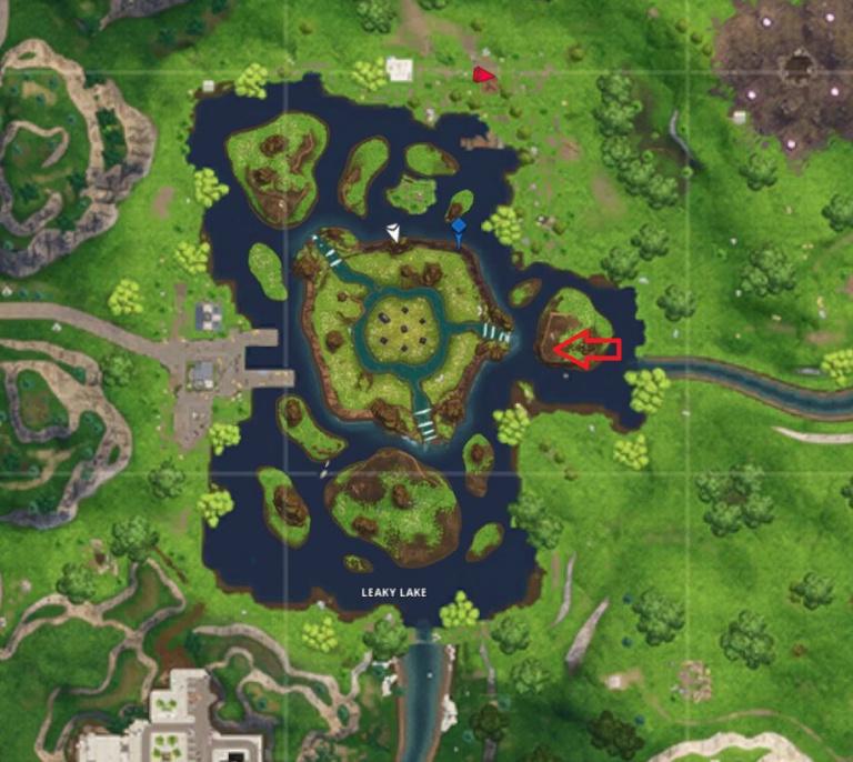 Guide Fortnite, défi caché La Traque #7 (saison 6) : emplacement de l'étoile cachée de la semaine