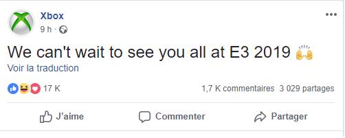 E3 2019 : Microsoft confirme sa présence