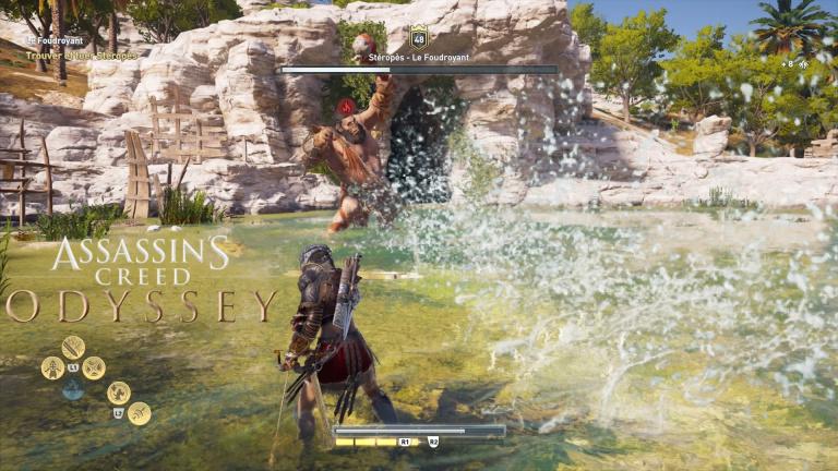 Guide Assassin's Creed Odyssey, Monstres Mythiques : Stéropès le Foudroyant, comment chasser le cyclope