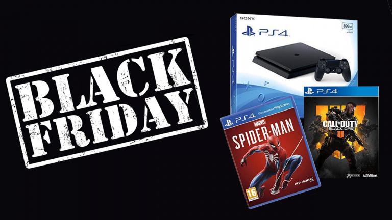 Black Friday : Pack PS4 Slim Noire 500Go + Spider-Man + CoD Black Ops 4 à 289.99€