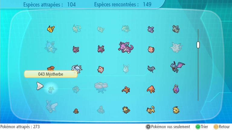 Différences Let's Go Evoli / Pikachu : les Pokémon exclusifs de chaque version