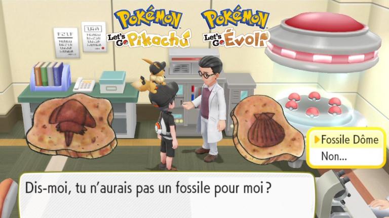 Pokémon Let's Go : obtenir les trois fossiles avec un seul jeu, c'est possible, voici comment