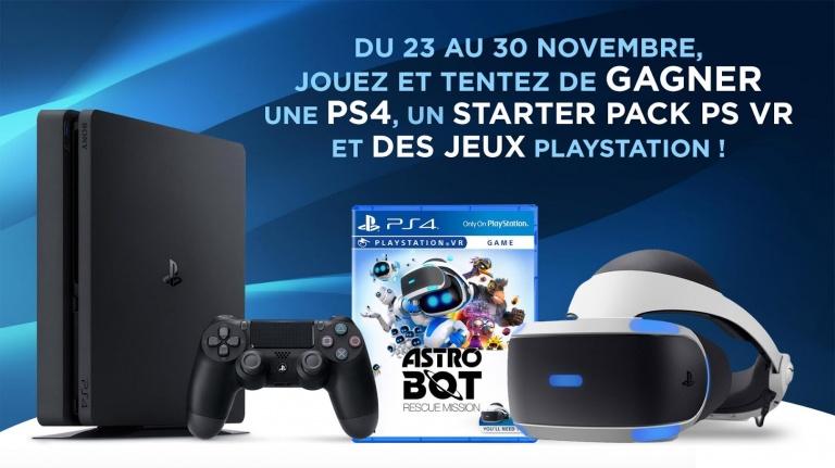 Gagnez une PS4, un starter pack PS VR et des jeux !