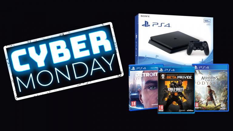 Cyber Monday : La PS4 Slim 500 Go + Detroit, Black Ops 4 et AC Odyssey à 289.99€