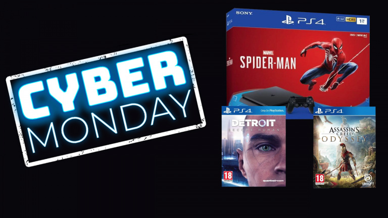 Cyber Monday : La PS4 Slim 1 To avec Spider-Man, Detroit et AC Odyssey à 309,99€