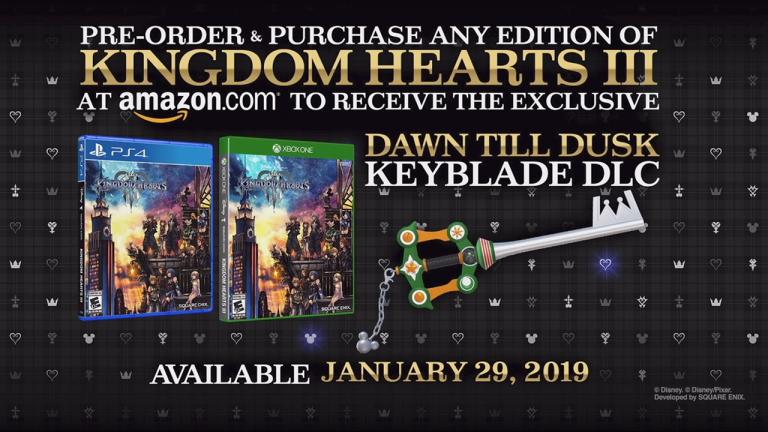 Kingdom Hearts III : une Keyblade exclusive chez Amazon en Amérique du Nord