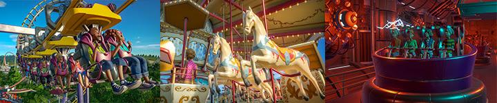 Planet Coaster : neuf manèges supplémentaires avec la Magnificent Rides Collection
