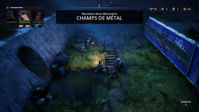 Champs de métal