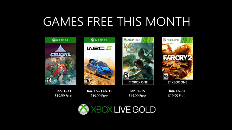 Xbox Games with Gold : les jeux offerts en janvier 2019