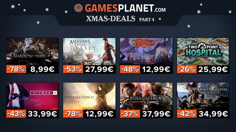 Des promotions de Noël jusqu'à -70% chez Gamesplanet