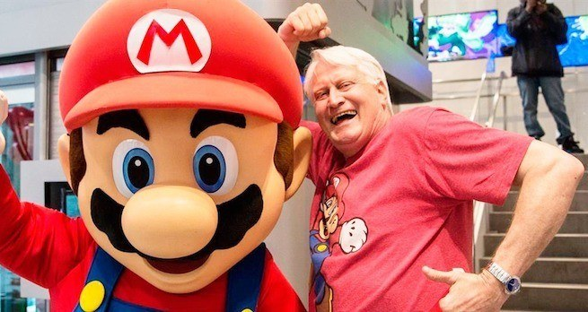 Charles Martinet (Mario) entre au Guinness Book des records
