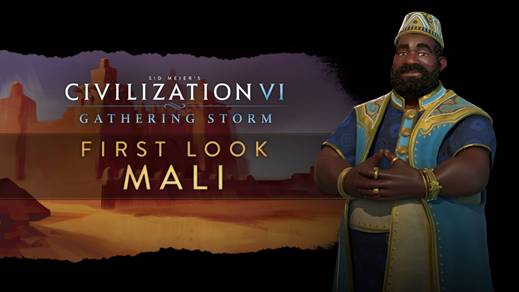 Civilization VI : Gathering Storm - Mansa Moussa présente son Mali