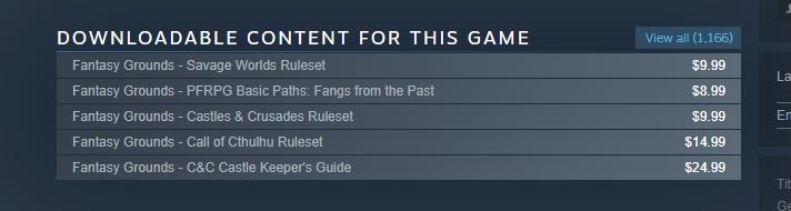 Une nouvelle organisation pour les DLC sur Steam
