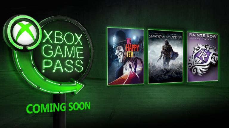 Xbox Game Pass : We Happy Few, L'Ombre du Mordor et Saints Row 3 en approche