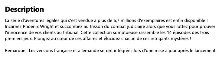 Ace Attorney : une traduction française pour la trilogie, après la sortie