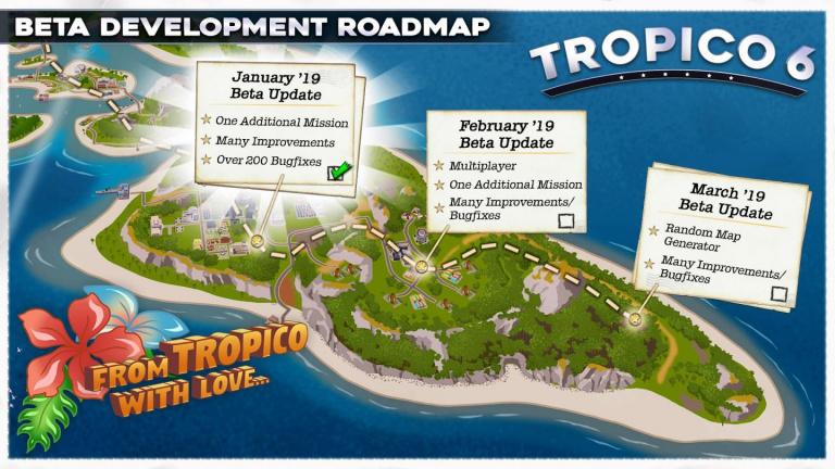 Tropico 6 : la bêta va s'enrichir progressivement avant la sortie officielle