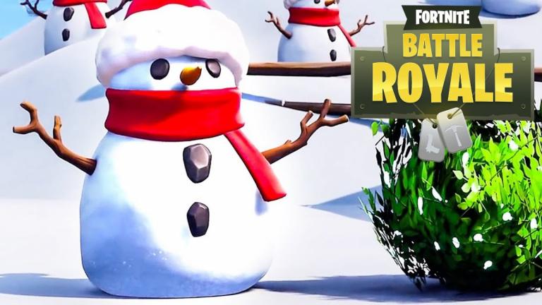 Fortnite : ne pas subir de dégâts de chute, c'est possible grâce aux Bonhommes de neige
