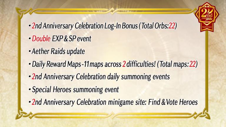 Fire Emblem Heroes : Des événements pour le 2ème anniversaire