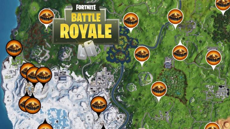 Fortnite : carte des emplacements des Feux de Camp