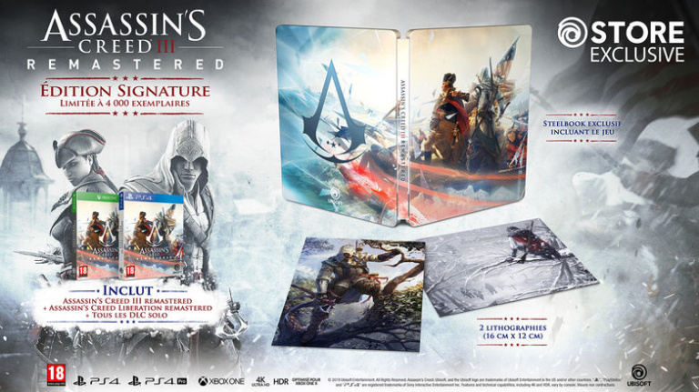 "Une ""Signature Edition"" pour Assassin's Creed III Remastered"