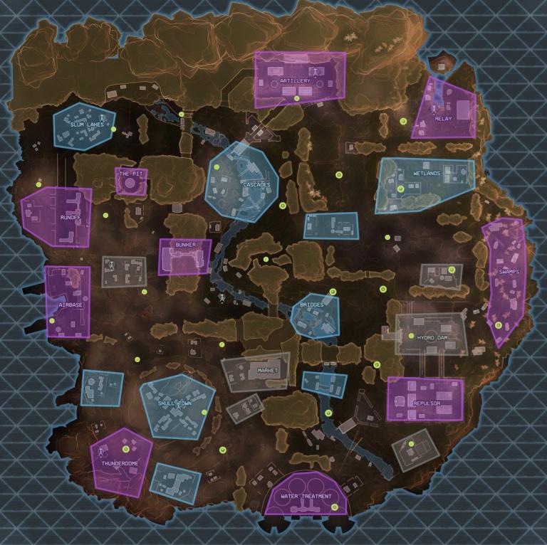 Les zones de loot
