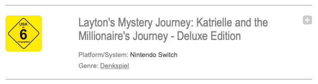 Katrielle Layton s'approche visiblement des Nintendo Switch occidentales