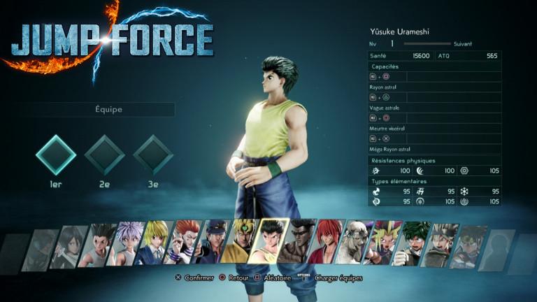 Jump Force : comment débloquer tous les personnages