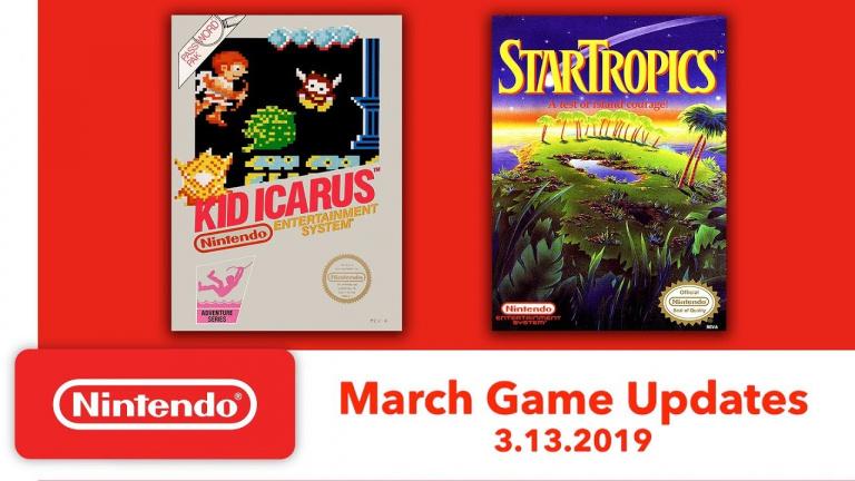 Nintendo Switch Online : Kid Icarus et StarTropics sont les nouveautés de mars