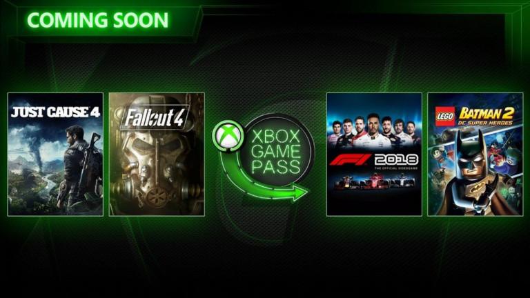 Fallout 4 et F1 2018 vont aussi rejoindre le Xbox Game Pass