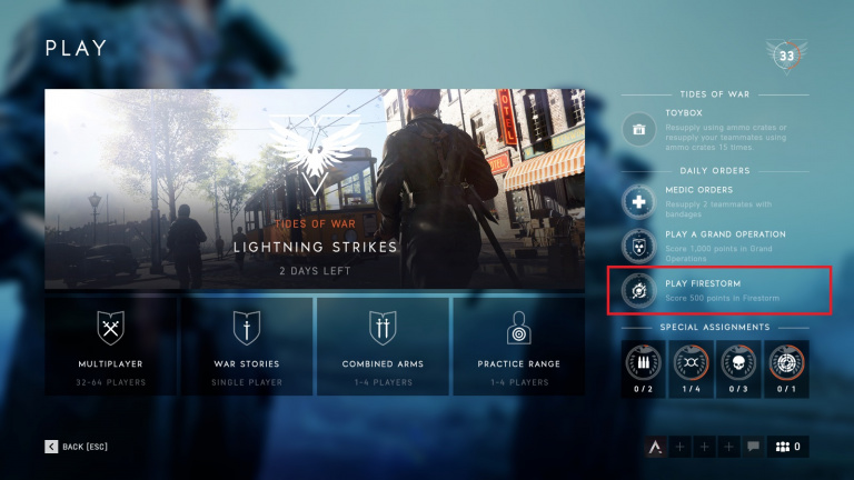Battlefield V : Le mode Battle Royale Firestorm en approche ?