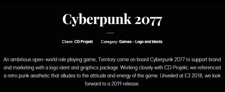 Cyberpunk 2077 : une agence proche du projet l'annonce pour cette année