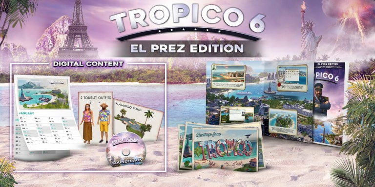 "Tropico 6 : une version physique ""El Prez Edition"" sur PC"