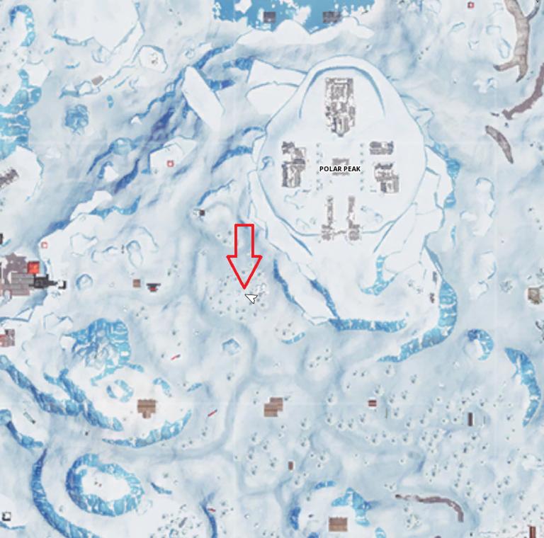 """Fortnite, défi : Cherchez à l'endroit où la loupe est posée sur l'écran de chargement """"L'île au trésor"""" (saison 8, semaine 3)"""
