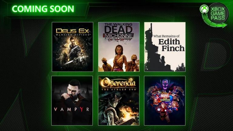 Xbox Game Pass : six nouveaux jeux en approche
